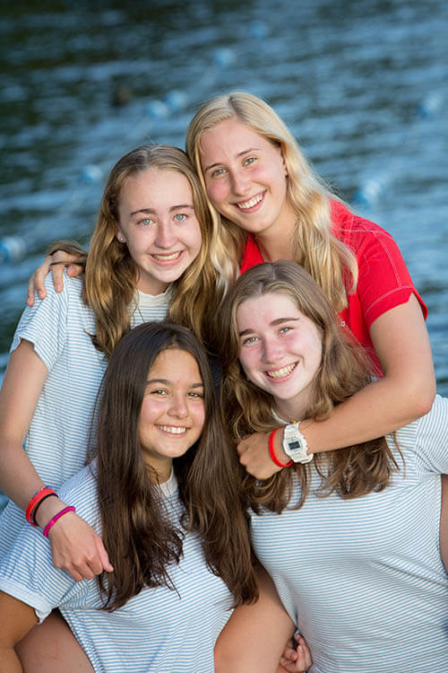 A counselor and three of her campers