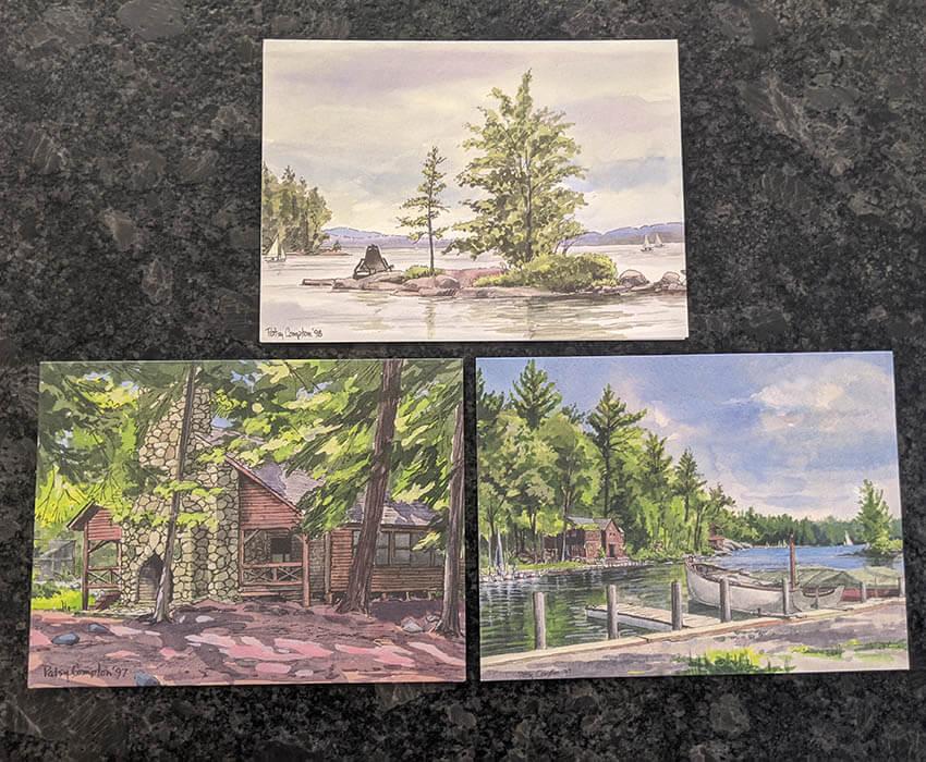 Wohelo watercolor postcards