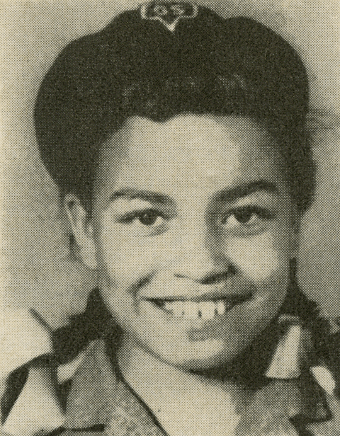 Angela Davis at ten years old in her girl scout uniform