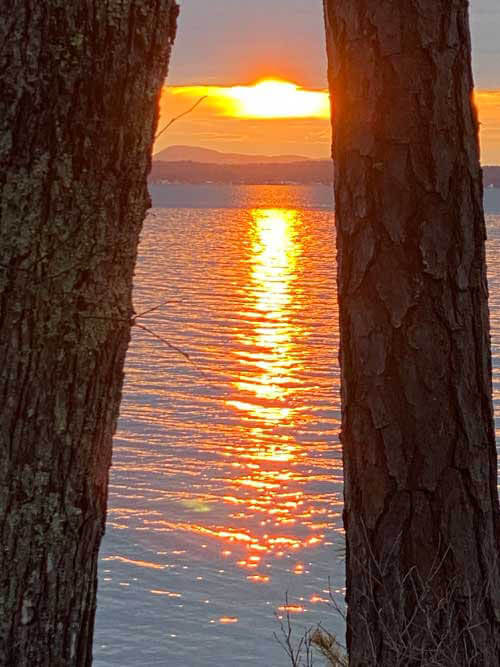 Sunset over the lake on 1-12-21
