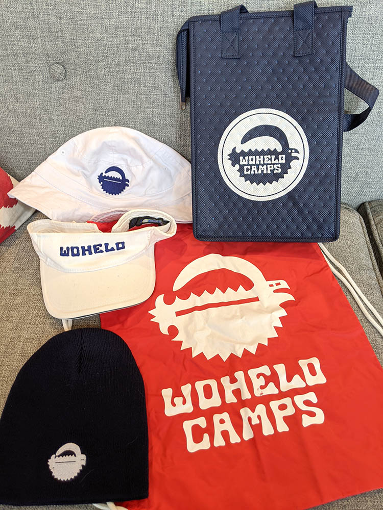 Wohelo bags and hats