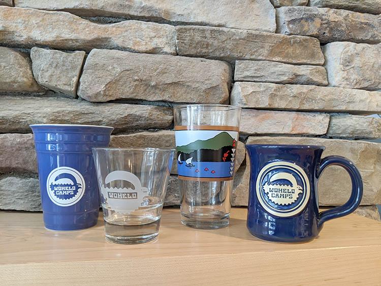 Wohelo glasses and mugs